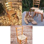 グリーンウッドワーク・生木から作った椅子